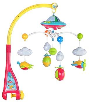 Móviles Juguete de actividad para bebé móvil y cochecito móvil musical para cuna con pared que cambia de color rosa rosa Actividad y entretenimiento