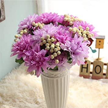 Mddrr Rosa Silk Blume Hochzeit Bouquet Dahlien Kunstliche Blumen