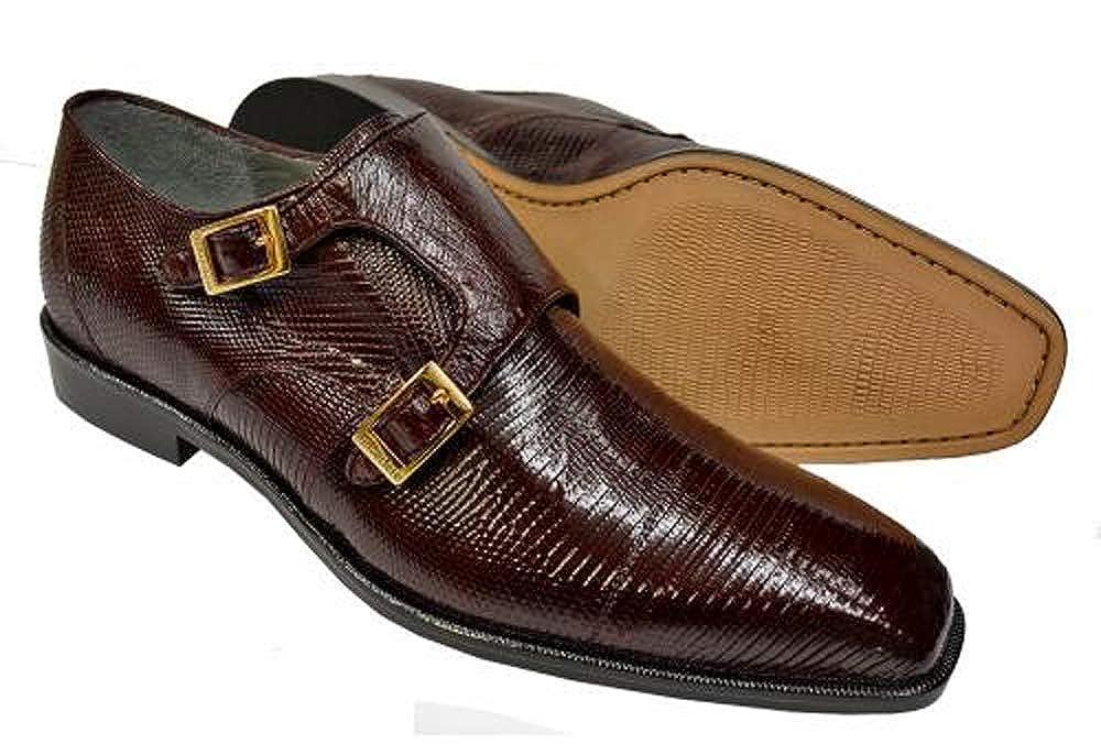 Bourgogne Belvedere Pablo herrar herrar herrar Genuine Lizard Ostrich Exic Skin Slip -on Monk remmar Loafer skor R21  välj från de senaste varumärkena som