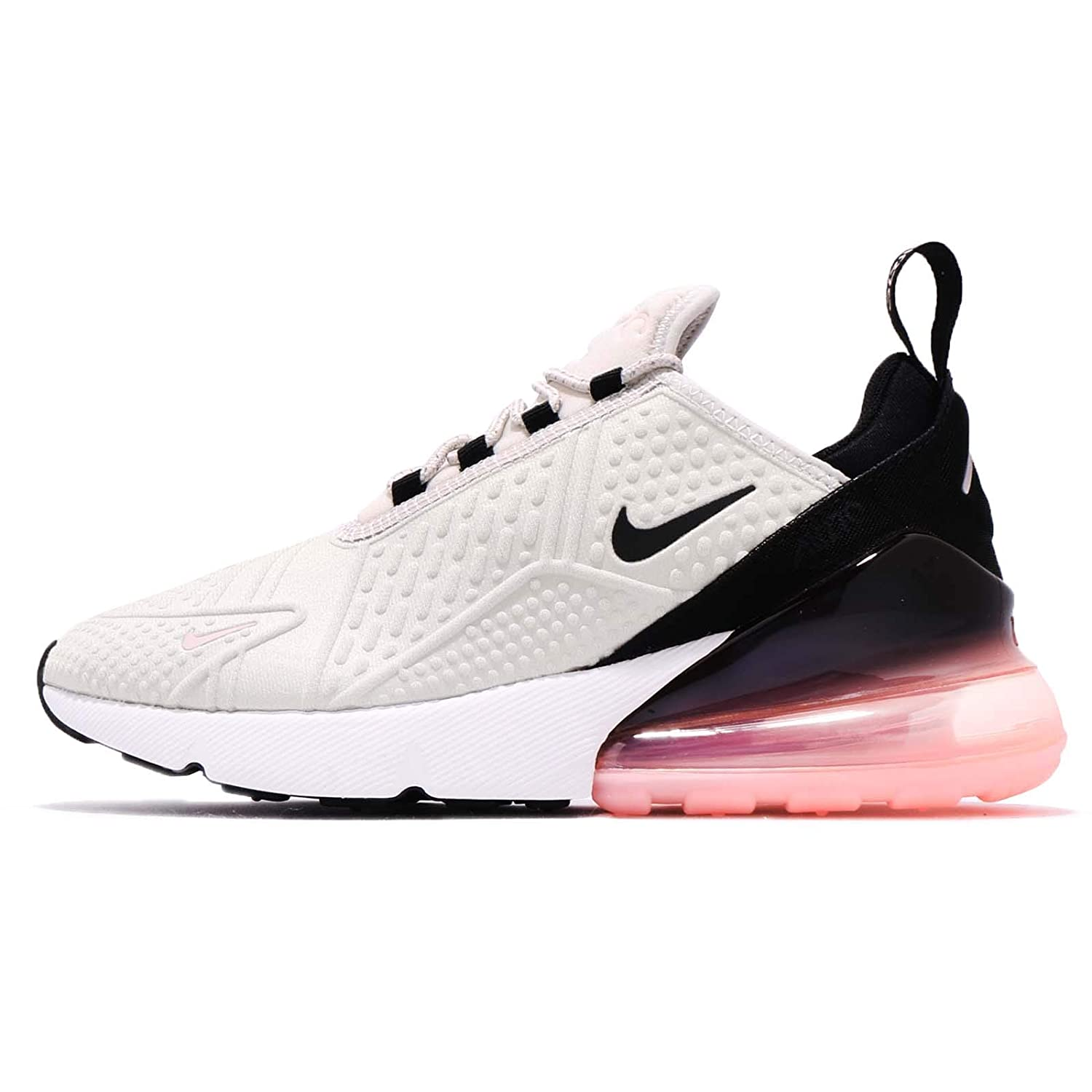 sneakers for cheap f9af1 623fa Nike Women's WMNS Air Max 270 SE, Light Bone/Black-Storm Pink, 7 US