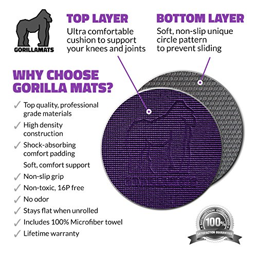 Premium Extra Large Yoga Mat - 9' x 6' x 8mm Extra Thick & Comfortable, Non-Toxic, Non-Slip, Barefoot Exercise Mat - Yoga, Stretching, Cardio Workout Mats for Home Gym Flooring (108'' Long x 72'' Wide) by Gorilla Mats (Image #2)