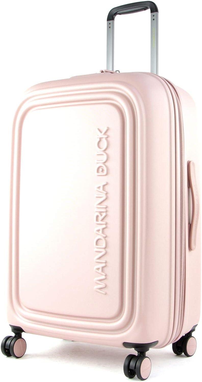 Mandarina Duck Logoduck + Maleta con 4 Ruedas Rosa 69 cm