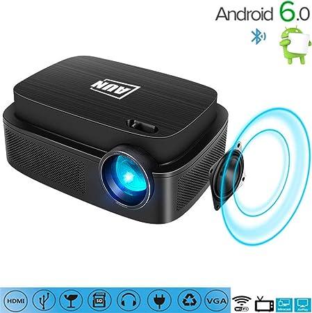 C-TK Proyector portátil HD 1080pLED, 3500 lúmenes conexión WiFi de ...
