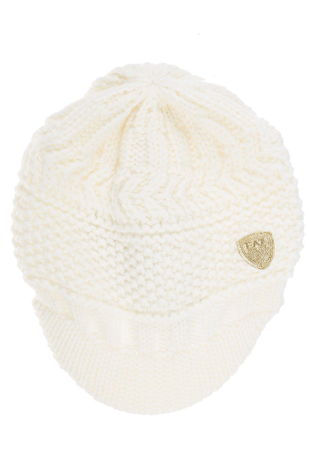 Emporio Armani EA7 women's beanie hat mount urban white US size S 285399 6A734 00011 by Emporio Armani