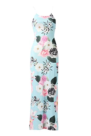 df82498eb4 Momo&Ayat Fashions Ladies Floral Side Split Maxi Dress UK Size 8-14 (US 4