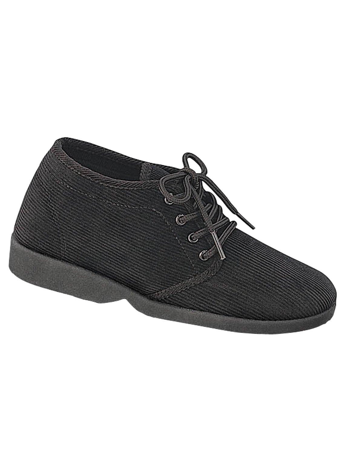 Carol Wright Gifts Corduroy Booties, Color Black, Size 9 (Medium), Black, Size 9 (Medium)