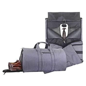 Amazon.com   2 in 1 Carry-on Suit Garment Bag Business Trip Travel Weekend  Duffle Bag Convertible Foldable   Garment Bags 24fc9acece