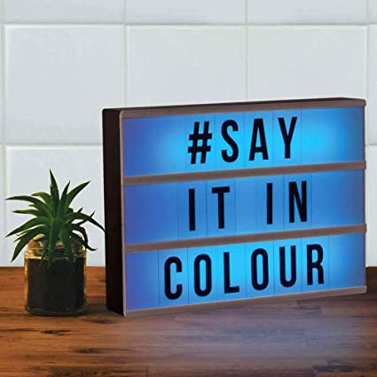 Amazon com: Fizz Creations Colour Changing Light Up Message