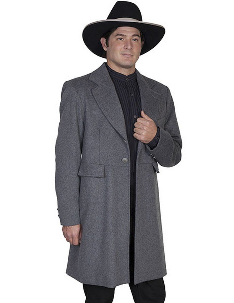 WahMaker by Scully Men's Old West Wool Blend Frock Coat Charcoal Grey 36