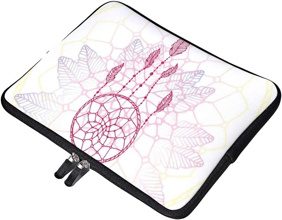 """Dream Catcher Concept Neoprene 12 Inch Laptop Sleeve Case Protective Cover Carrying Bag for 9.7"""" 10.5"""" iPad Pro Air/ 10"""" Microsoft Surface Go/ 10.5"""" Samsung Galaxy Tab"""