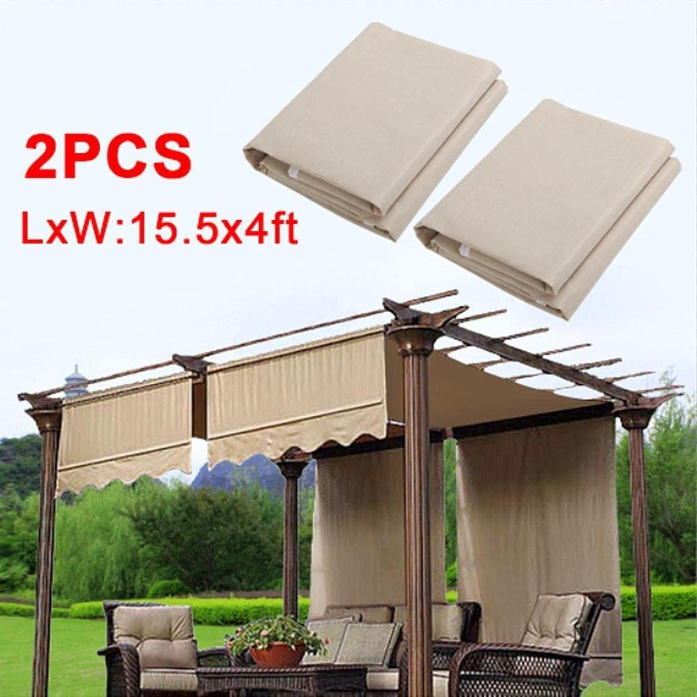 go2buy 2pcs Pergola, toldo de repuesto de 200 G W/cama color beige: Amazon.es: Jardín