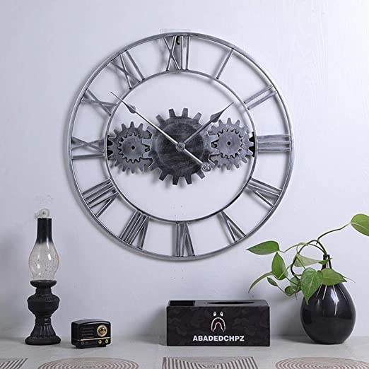 BOPP Reloj de pared para exteriores, resistente a la intemperie, 60 cm, para jardín, exteriores de hierro, para jardín, silencio de engranajes, resistente al agua, apto para paredes exteriores, C: Amazon.es: Jardín