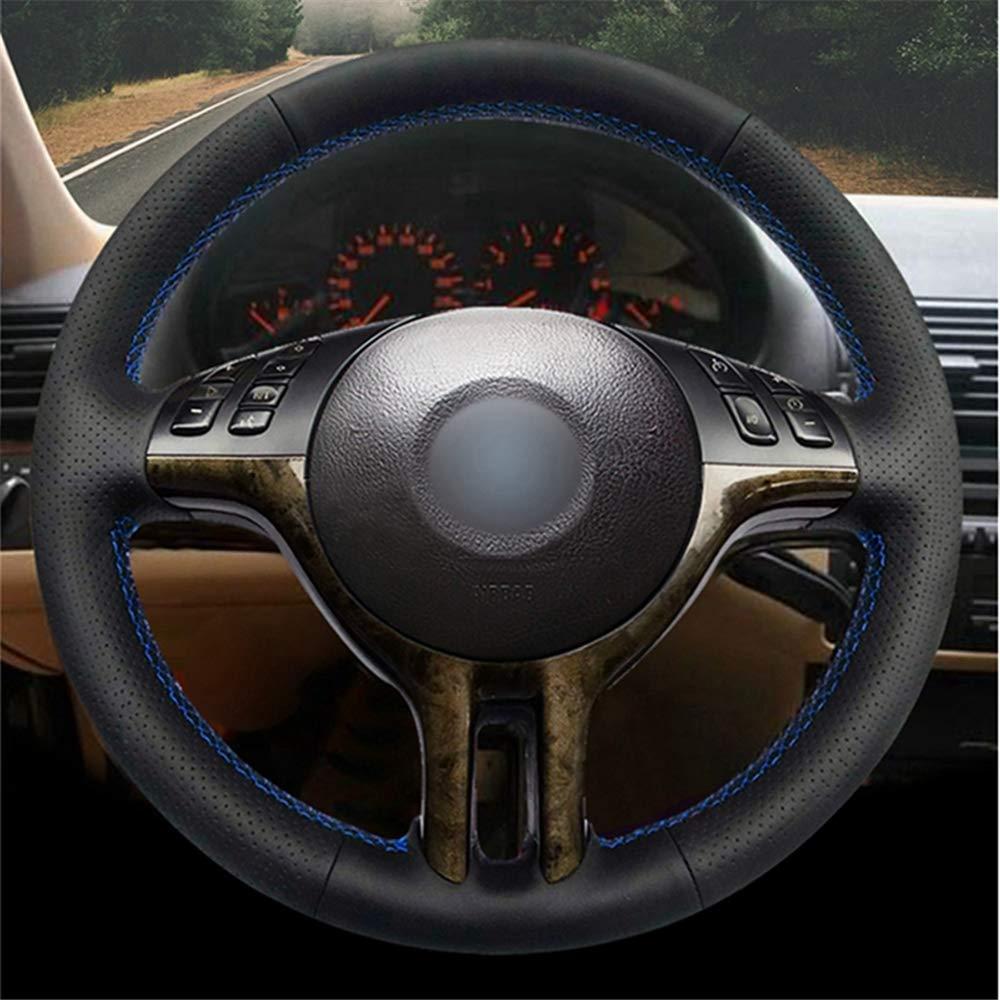 per BMW M Sport M3 E90 E92 E91 E93 E87 E81 E82 E88 X1 E84 Pelle Scamosciata Nera Cucita a Mano Fai da Te DYBANP Coprivolante