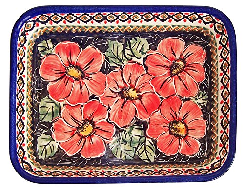 Boleslawiec Stoneware - Polish Pottery Medium Lasagna or Casserole Baker Eva's Collection