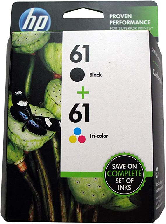 Part # CR259FN Tricolor Inkjet Cartridge Combo Pack HP #61 OEM Black