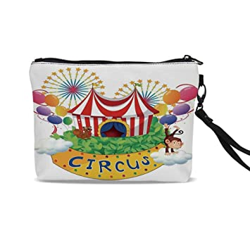 2b9a13ee419c Amazon.com : Circus Decor Cute Cosmetic Bags, Carnival with a Circus ...