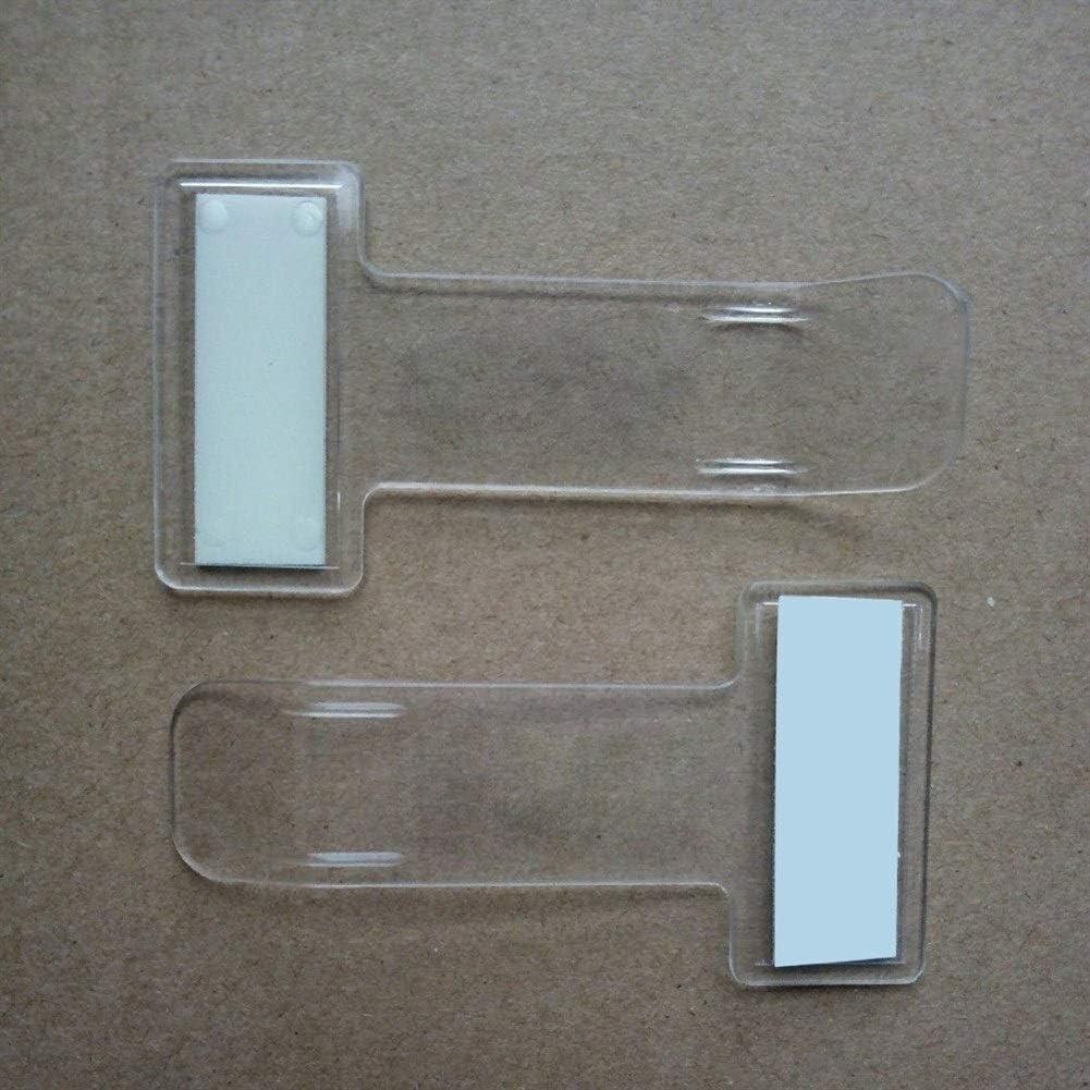 Cheniess 5 Pi/èces Parking Ticket Transparent Porte-Clip Timing Plastique Ticket Support Voiture Pare-Brise Billets Glace Porte avec Ruban adh/ésif Car Styling Accessoires Auto Color : Transparent