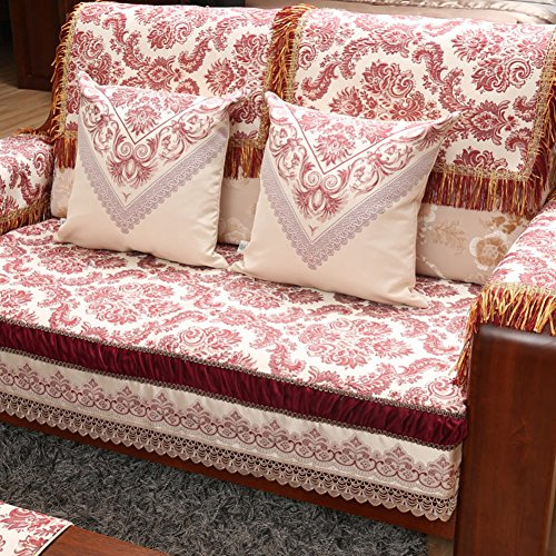 Chinese solid wood sofa cushions Seasons slip continental sat mat B 80x240cm(31x94inch) by Sofa towel