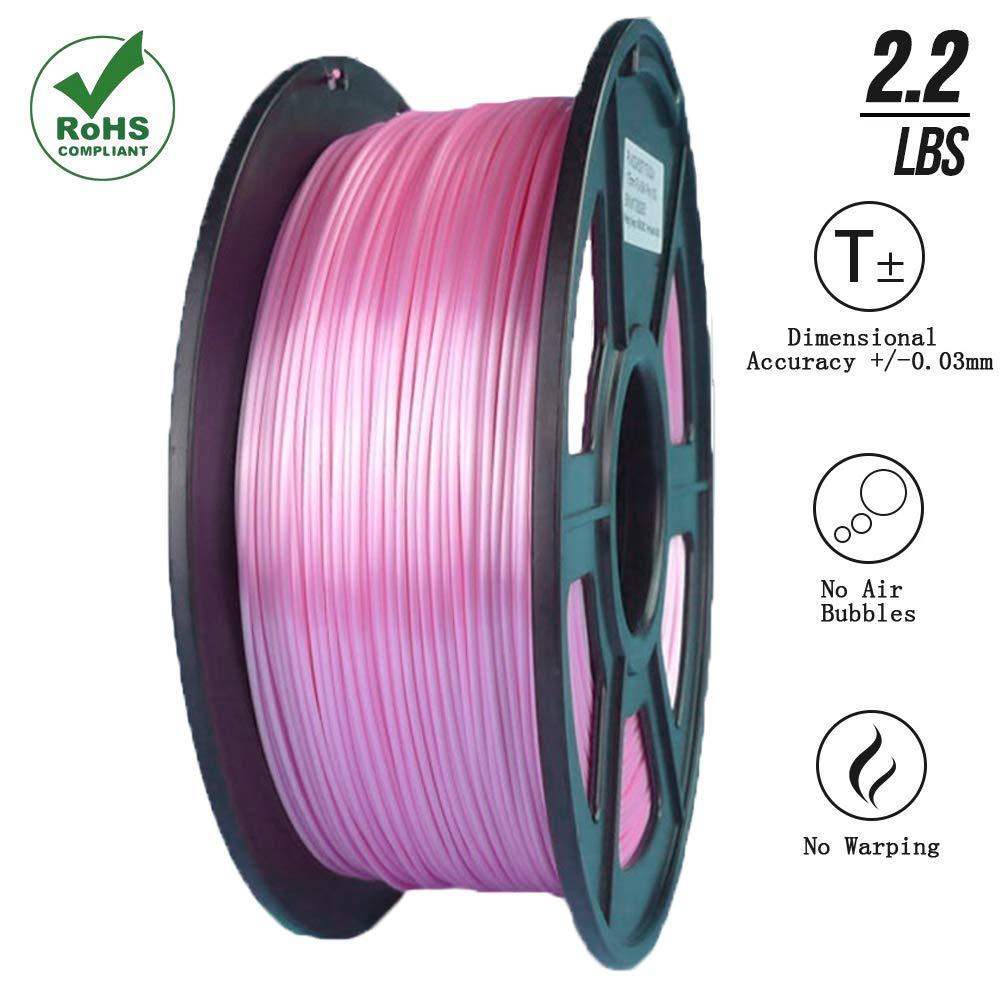 Suntop Pla 3d impresora filamento 1,75 mm seda rosa, RoHS, 1 kg ...