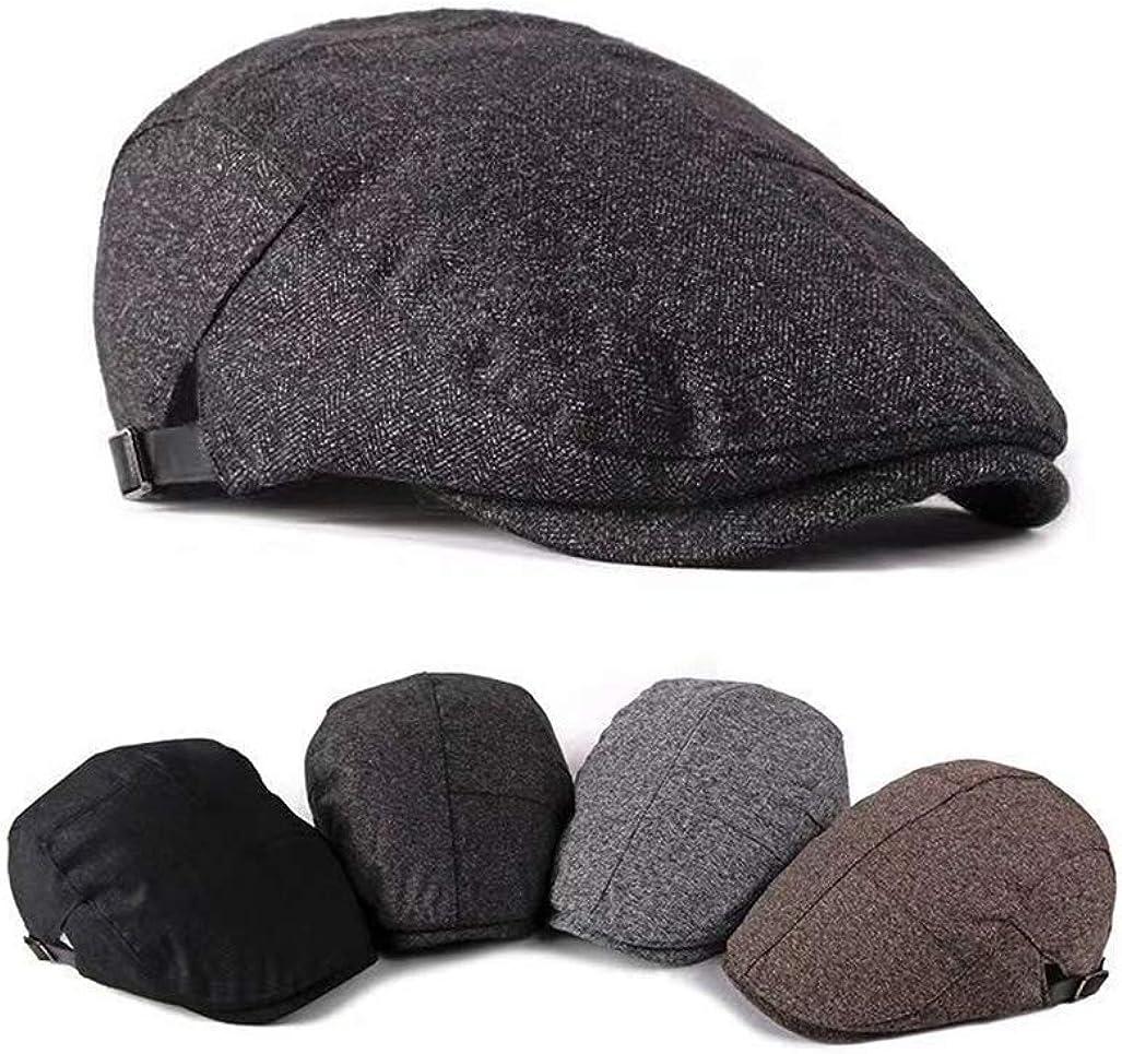 4farben 55-60cm FOOKREN Herren Winter m/ütze Baumwolle Flatcap einfarbig Schieberm/ütze