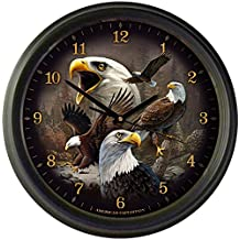 """American Expedition Wildlife Collage 16"""" Wall Clocks"""