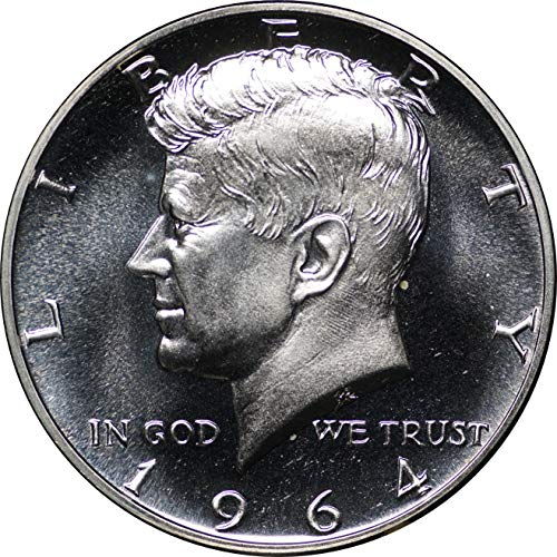 1964 Kennedy Silver Half Dollar, Gem Proof in Deluxe Wooden Box Brilliant Uncirculated (Half Kennedy Proof Dollar)