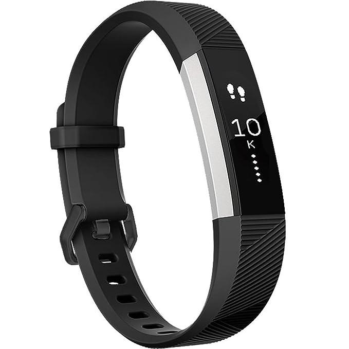 Correa para Fitbit Alta (HR), HUMENN Edición Especial Deportes Recambio de Pulseras Ajustable Accesorios para Fitbit Alta/Fitbit Alta HR Grande Negro