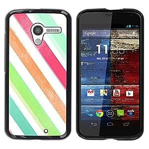 Be Good Phone Accessory // Dura Cáscara cubierta Protectora Caso Carcasa Funda de Protección para Motorola Moto X 1 1st GEN I XT1058 XT1053 XT1052 XT1056 XT1060 XT1055 // Stripes Wa