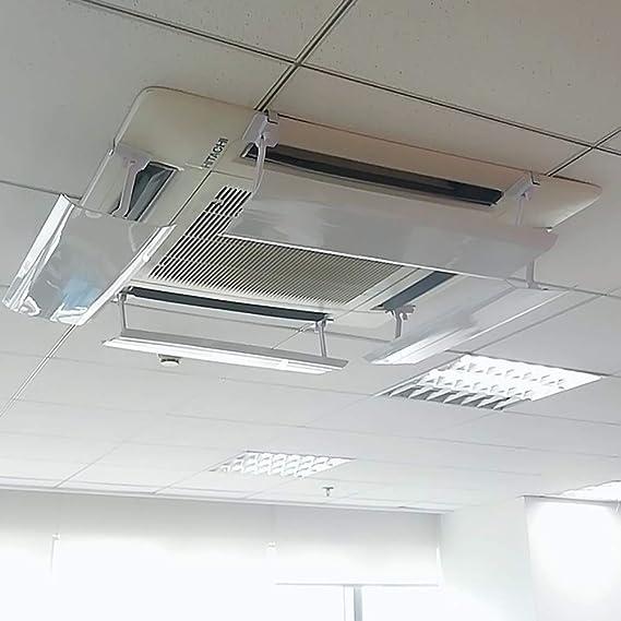 Deflector De Aire Anti-Recto Que Sopla del Aire Acondicionado para El Hogar/Oficina, Blanco Ajustable del Escudo De Viento, Paquete De 4 (Size : 40CM): Amazon.es: Hogar