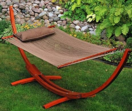 algoma    pany 67104914sp 12 ft arc stand and caribbean hammock with pillow   tan amazon     algoma    pany 67104914sp 12 ft arc stand and      rh   amazon