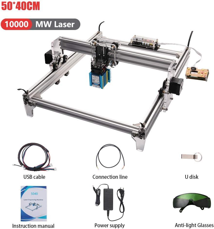 marquage dimage de logo dimprimante de DIY Machine de gravure laser bois cnc routeur 7000MW Imprimante de bureau de 2 axes pour le plastique en bois en cuir 50 * 40cm