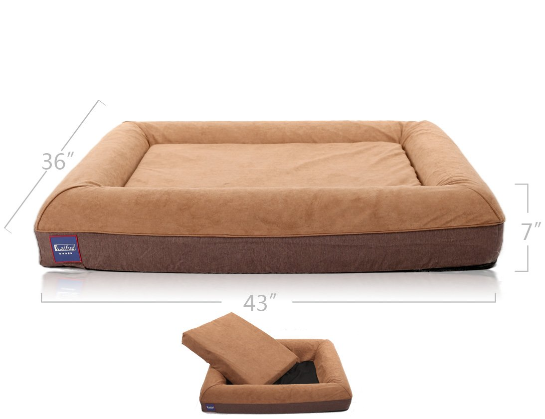 LaiFug Orthopedic Memory Foam Large Dog Bed pillows(43\