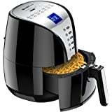 Air Fryer, Habor Turkey Fryer 3.8QT Healthy - 1500W Oilless Quick Multi Cooker Air Fryer with Large LED Display, Temperature Controller and Deep Fryer Cook Book Included for Fry, Bake, Grill, and Roast