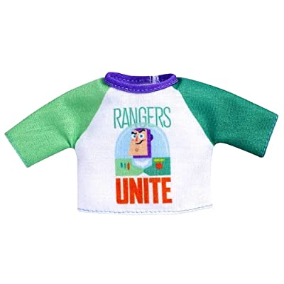 Barbie Clothes: Disney and Pixar Toy Story 4 Character Top Dolls with Buzz Lightyear Ranger Unite Graphic, Gift for 3 to 7 Year Olds: Toys & Games