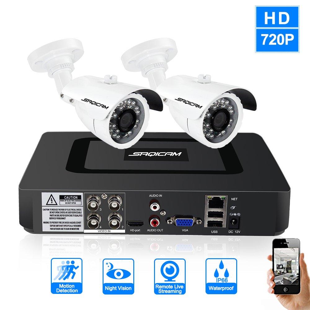 新しく着き SAQICAM 4Ch Cctvカメラシステム1080N 2作品 720P 720P SAQICAM 1200Tvl屋外弾丸耐候性セキュリティカメラビデオ監視Dvrキット、ナイトビジョン B07CV62GPV、動き検出 B07CV62GPV, シモフサマチ:4767bfb5 --- martinemoeykens-com.access.secure-ssl-servers.info