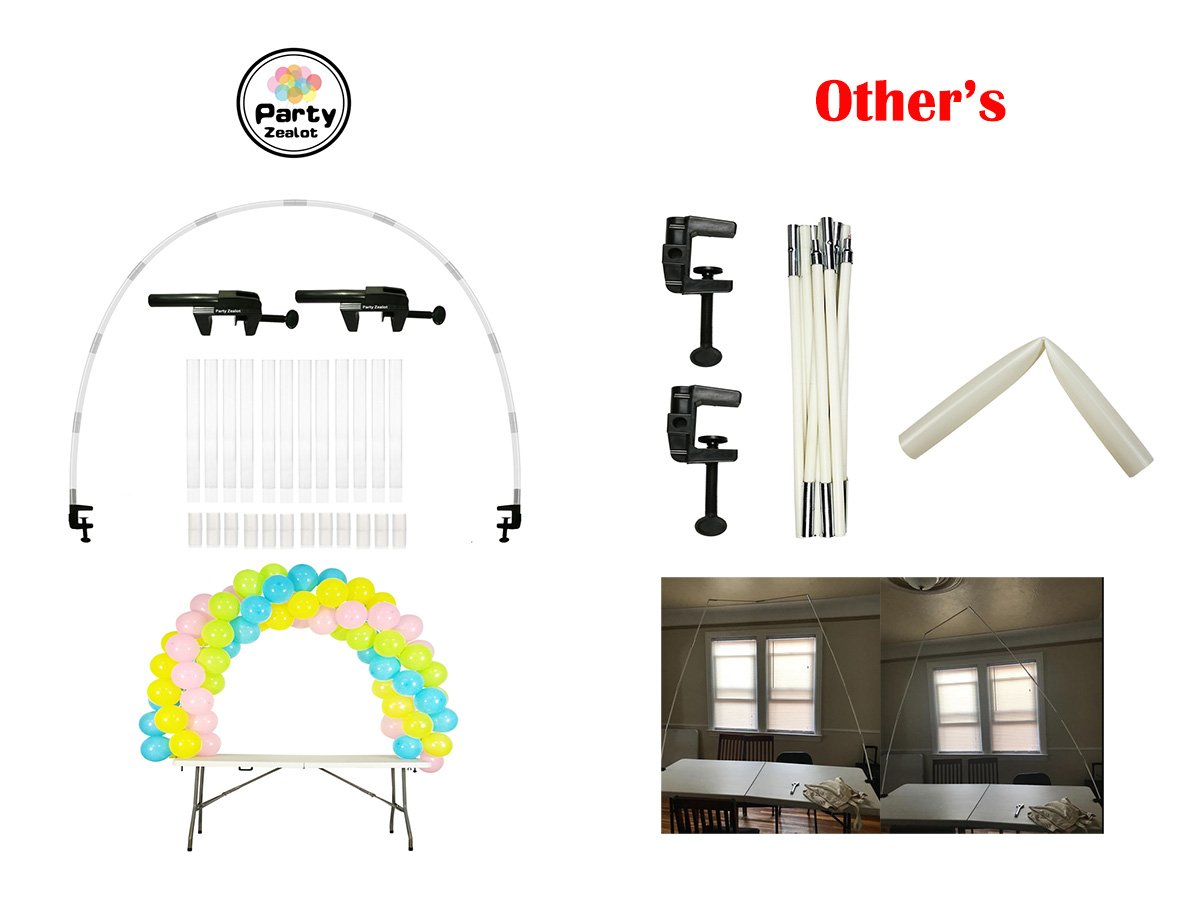 Balloon Arch Kit Adjustable for Different Table Sizes Birthday, Wedding, Christmas, and Graduation Party by Party Zealot (Image #7)