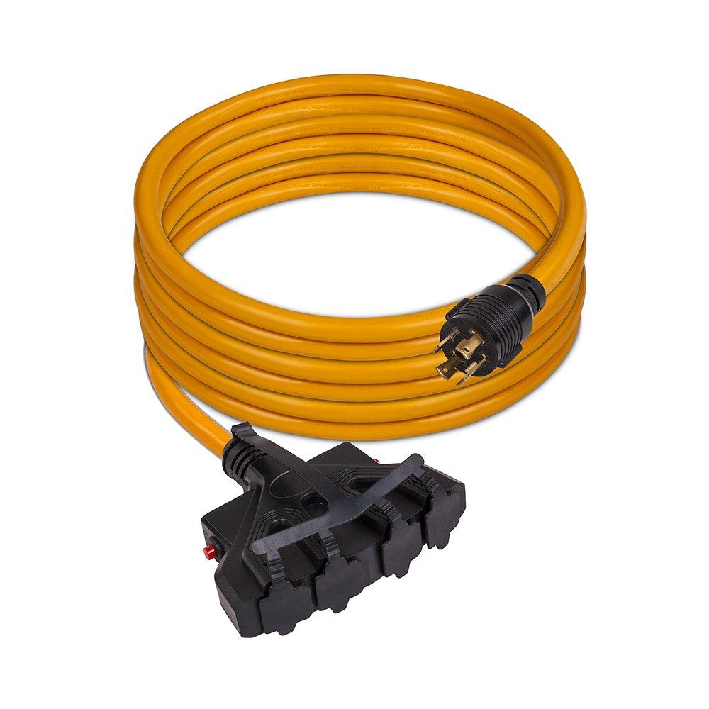 Firman 1120 30 Amp Generator Power Cord (L14-30P to 4x5-20R)