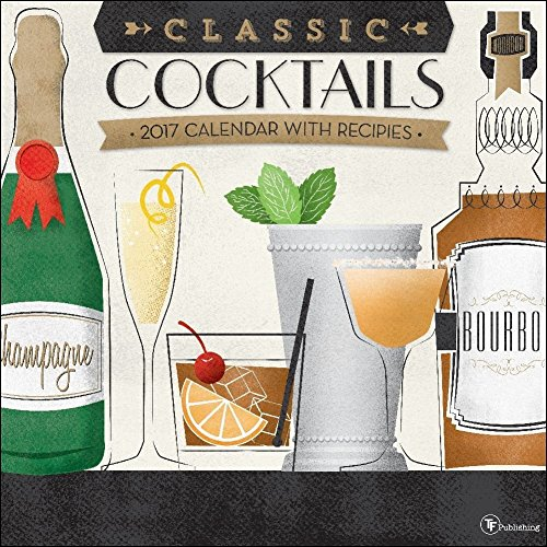 TF Publishing Cocktails 2017 Wall Calendar