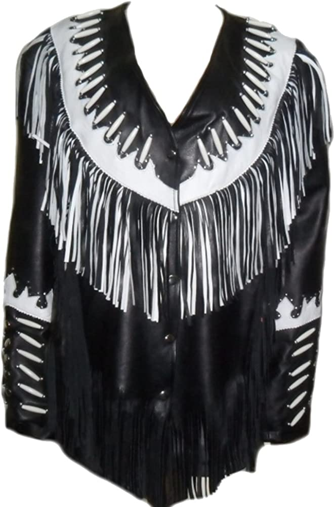 Classyak Western Indian Cowgirl Real Leather Jacket