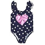 7-Mi Baby Girls Cute Love Pattern Swimwear