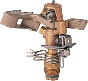 Rain Bird 25PJDAC Brass Impact Sprinkler, Adjustable 0° to 360° Pattern, 20' - 41' Spray Distance