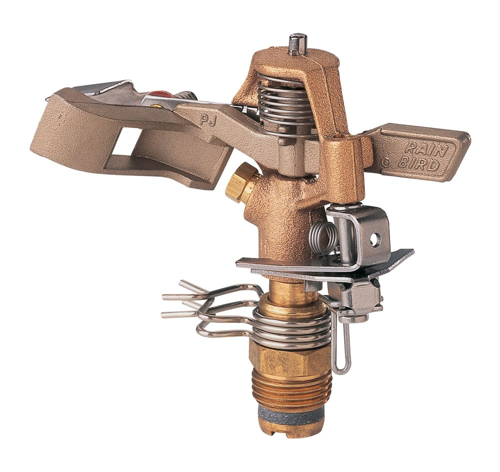 Rain Bird 25PJDAC Brass Impact Sprinkler, Adjustable 20° - 360° Pattern, 20-41' Spray Distance