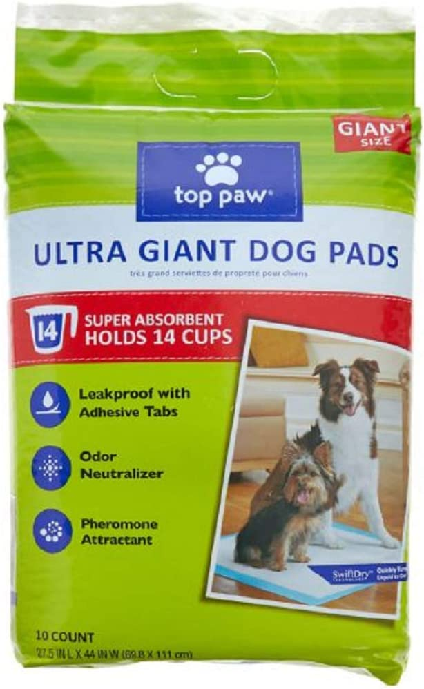 50 Pads// TOP PAW Dog Puppy Training Pads Absorbent Leakproof