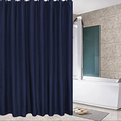 Amazon.com: Eforcurtain Modern Water Repellent Solid Shower Curtain ...