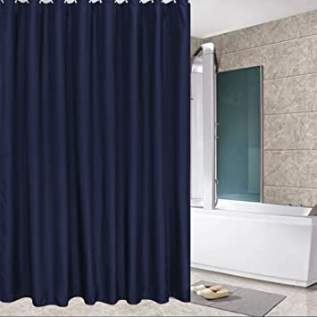 Amazon.com: Eforcurtain Standard Size Solid Fabric Shower Curtain ...