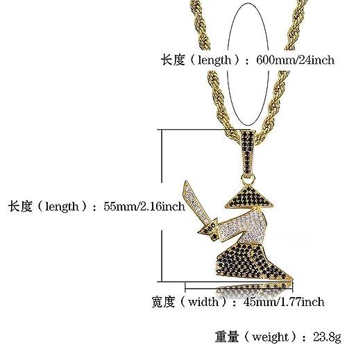 Amazon.com: AEmber BK – Collar Samurai de guerrero ninja de ...
