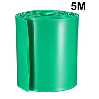 5Meter 56mm Width PVC Heat Shrink Wrap Tube Green for AAA Battery Pack