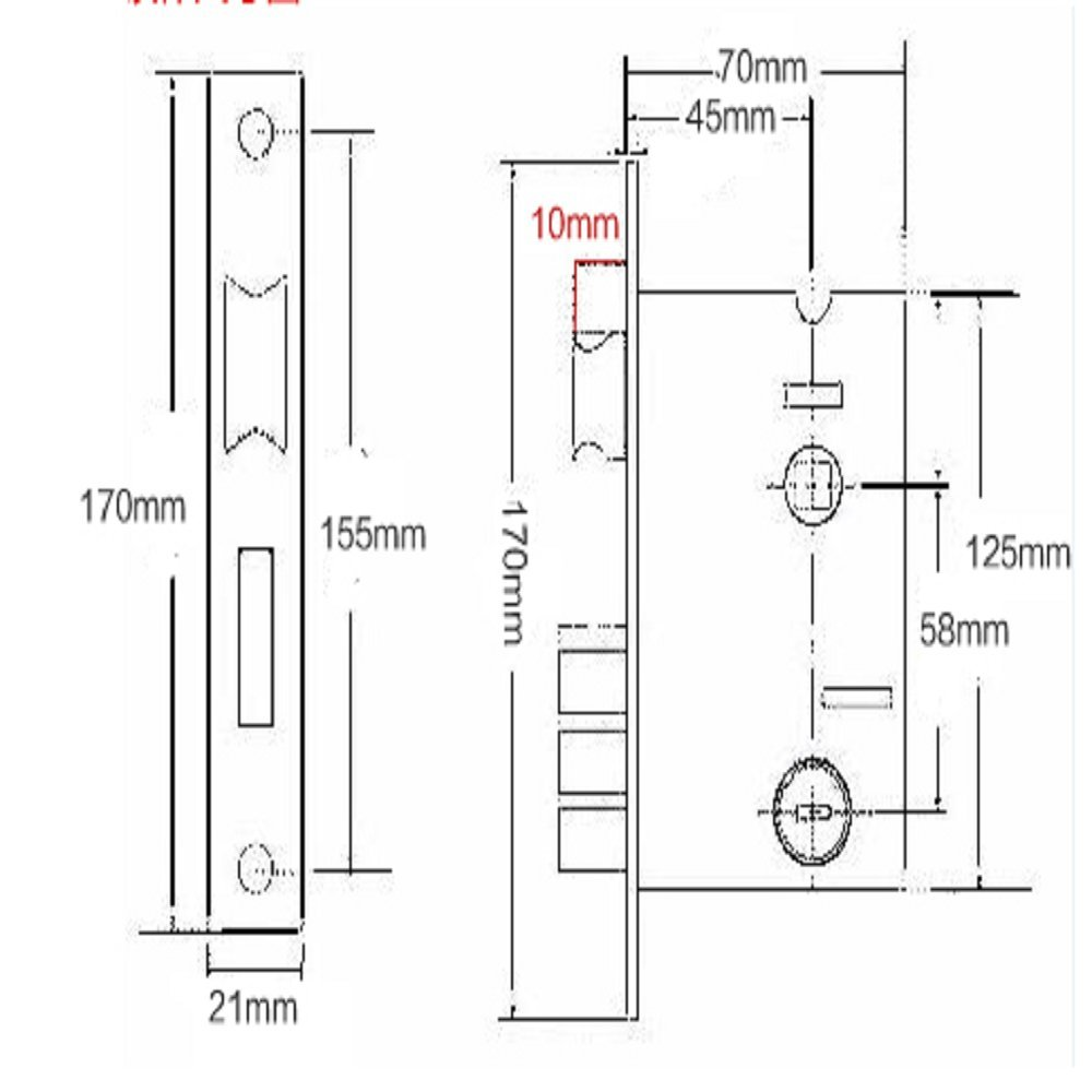 Door locks, space aluminum bedroom door locks,door handles, 13157mm,B