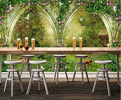 3D Murales Papel Pintado Pared Calcomanías Decoraciones Arco De Jardín De Fantasía Cocina Infantil De Arte (W)300x(H)210cm: Amazon.es: Bricolaje y herramientas