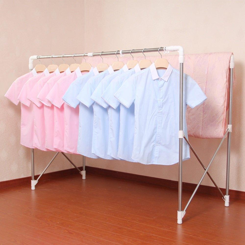 乾燥ラック/フロアダブルロッド/ステンレススチール/伸縮式/折りたたみ式/乾燥用ラック、ドライキルト(本製品は衣類乾燥用ラックのみを含む) B07HDPYN2N